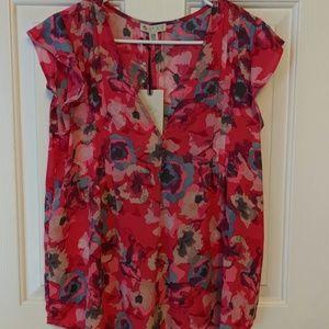 Lila rose/ semi shear blouse